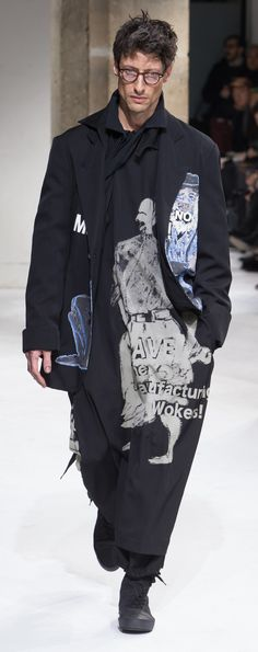 Yohji Yamamoto - Fall 2017 http://www.99wtf.net/men/mens-fasion/dressing-styles-girls-love-guys-shirt-included/