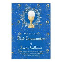 First Holy Communion angels decor Invitation   Zazzle.com