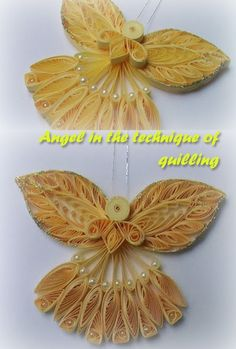 Angel in the technique of quilling Paper Quilling Tutorial, Paper Quilling Designs, Quilling Paper Craft, Quilling Patterns, Paper Crafts, Origami Christmas Ornament, Quilling Christmas, Christmas Card Crafts, Christmas Ornaments