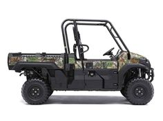 New 2016 Kawasaki Mule Pro-FX™ EPS Camo ATVs For Sale in Texas. The mule pro-FX™ EPS camo side x side features the rich patterns of Realtree Xtra® green camouflage that can help get you into a perfect position on the hunt without ever being noticed. Cargo Bed can fit a standard size 40x48 pallet with up to 1,000 lbs. of cargo capacity 812cc three-cylinder engine with massive torque, impressive pulling power, and smooth acceleration to tow heavy loads across rugged terrain Speed-sensitive EPS…