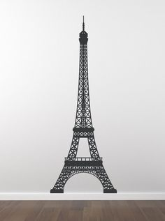 Eiffel Tower Decal - Paris Skyline Wall Decal Wall Decor - La Tour Eiffel Vinyl Wall Decal.