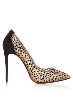 CHRISTIAN LOUBOUTIN Follies Lace 100Mm Pumps. #christianlouboutin #shoes #pumps