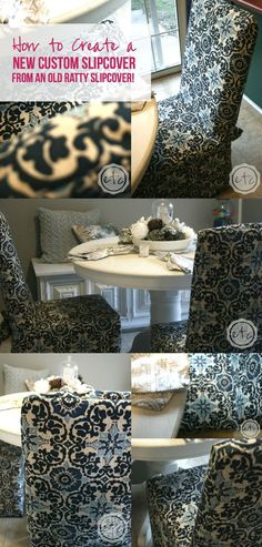 How to Create a New Custom Slipcover... from an Old Ratty Slipcover! - Happily Ever After, Etc.