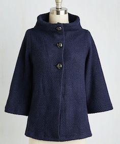 Dark blue retro style jacket