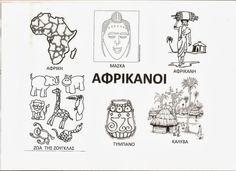 African Art, Continents, Kids And Parenting, Activities For Kids, Kindergarten, Teaching, Education, Comics, World