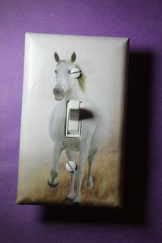 Horse Light Switch Plate Cover girls child kids by ComicRecycled