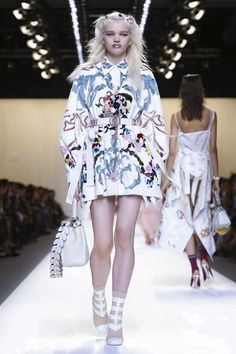 Funky rococo and baroque Harajuku: think Sofia Coppola's pop take on Marie Antoinette, played by Kirsten Dunst. TheFendiSummer collection, created by Karl Lagerfeld and Silvia Ventu...