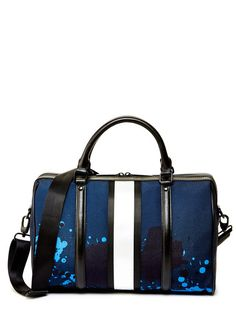 L.A.M.B. Edna Canvas Satchel in Splatter Print