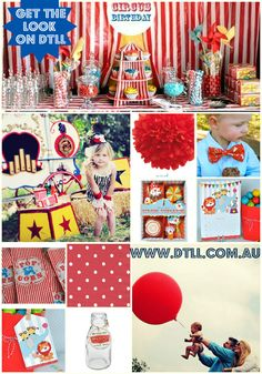 #circus party #red #party all available on www.downthatlittlelane.com.au