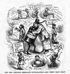 Type of source: Comic, primary source, Date of origin: 1923 This comic illustrated society's hostile attitude toward Chinese immigration. The Chinese exclusion act of 1923 Chinese American, American History, Society Problems, Yellow Peril, Anglo Saxon, Political Cartoons, Old Pictures, Caricature, Civilization