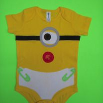 *** THIS IS NOT A LICENSED PRODUCT ***  Your little precious one will look so adorable in this onesie. This one of a kind onesie will also makes a perfect baby shower gift.  All details are carefully cut out and attached to the onesie by using iron-on adhesive and then stitched for added stre...