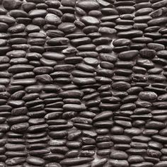 Solistone 15-Pack 4-in x 12-in Standing Decorative Pebbles Black Natural Stone Wall Tile
