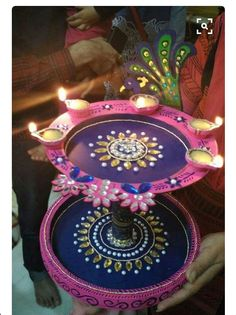Arti Thali Decoration, Decoration For Ganpati, Diwali Craft, Diwali Rangoli, Diwali Decorations, Festival Decorations, Diy Arts And Crafts, Hobbies And Crafts, Shimmer Y Shine