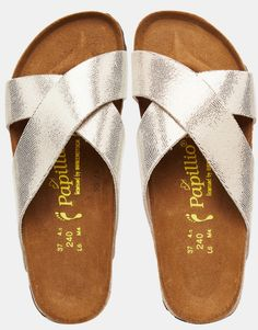 Image 3 of Birkenstock Papillo Daytona Gold X Front Slider Flat Sandals