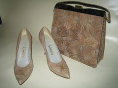 Vintage 1950's 1960's A.Beauty Oriental - Asian Matching Cork Purse and Shoe Set - Size 8 on Etsy, $48.00