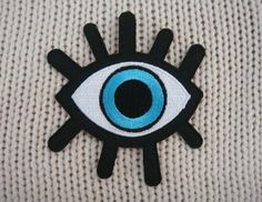 Eye Patch Applique Embroidered Iron on Patch van EriztShop op Etsy