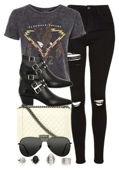 """Style #10490"" by vany-alvarado ❤ liked on Polyvore featuring Chanel, Topshop and Yves Saint Laurent"