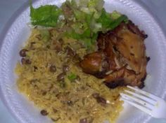 haitian rice and beans with coconut milk