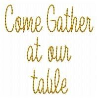 Come Gather Redwork - 4x4 | Primitive | Machine Embroidery Designs | SWAKembroidery.com HeartStrings Embroidery