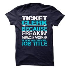 TICKET CLERK T-SHIRTS, HOODIES (21.99$ ==► Shopping Now) #ticket #clerk #shirts #tshirt #hoodie #sweatshirt #giftidea