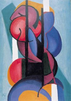 """1923. Janos Mattis-Teutsch (1884-1960) was a Hungarian and Romanian painter, sculptor, graphic artist, art critic, and poet. Best known for his """"Soulflowers"""" cycle of paintings, he was an important contributor to the development of modern art and avant-garde trends in Hungary and Romania.The central concurrence between Mattis-Teutsch & Der Blaue Reiter lay in the spiritual interpretation of color & symbolic forms, as well as in his confidence in their generally understood power of…"""
