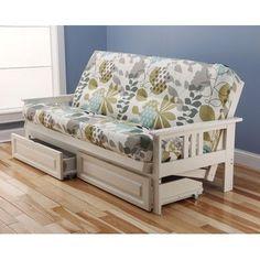 Kodiak Furniture Monterey English Garden Storage Drawers Futon and Mattress