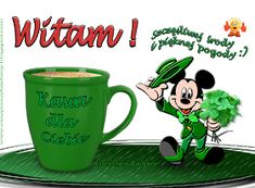 CzaryMary Barbary: KARTKI Z ŻYCZENIAMI NA ŚRODĘ Good Morning, Mugs, Night, Polish, Buen Dia, Bonjour, Tumblers, Mug, Good Morning Wishes