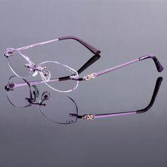 Voguish eyeglasses women brand prescription glasses rimless frame 9410dea99649