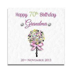 Handmade Personalised Grandma Nan Mum Nanny 40th 50th 60th 70th Birthday Card Greeting Cards