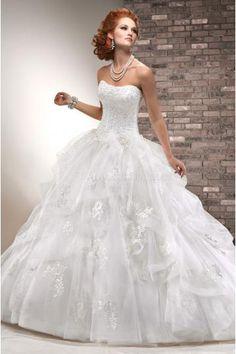 A-linie Bodenlang Traumhafe Romantische Brautkleider für Prinzessin