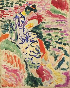 "Henri Matisse LA JAPONAISE (Woman beside the Water) 1905 oil & pencil on canvas 13 7/8 x 11 1/8"" MoMA FAUVE"