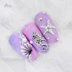 Nageldesign cute nail designs for summer 2018 Wedding Gowns: A Guide For Making The Right Choice Nail Art Designs, Beach Nail Designs, Nails Design, Trendy Nails, Cute Nails, Sea Nails, Glitter French Manicure, French Manicures, Mermaid Nails