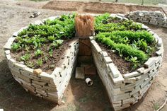 How to Make a Keyhole Garden to conserve space and allow easy maintenance access