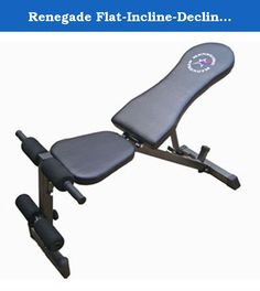 Renegade Flat-Incline-Decline Weight Lifting Bench. Made of stitched, branded upholstery. Ample cushioning. 5 different positions ranging from flat to negative / decline to upright. Ideal for upper body workouts. Extended foam grips provide stability for abdominal exercises and reverse crunches. 300lb weight capacity.. Assembly Required. 49 in. L x 25.5 in. W x 21 in. H (31.9 lbs.). Early in the development of Troy Barbell's new USA Sports Renegade Strength bench line, we committed…