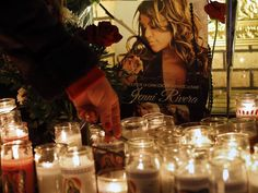 """Fans pay tribute to Jenni Rivera, the Mexican-American singer coined """"La Diva de la Banda"""" who was killed in a plane crash at age Jenni Rivera, Mexican Music Artists, Riverside California, Mexican Heritage, Shaytards, Tv Station, Mexican American, Arts And Entertainment, American Singers"""