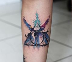 Deathly Hallows tattoo. Harry Potter tattoo. Death came as a friend