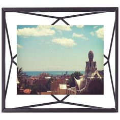 """Umbra Prisma 4"""" x 6"""" Picture Frame ($19) ❤ liked on Polyvore featuring home, home decor, frames, black, black frames, umbra picture frames, wall picture frames, black picture frames and home wall decor"""