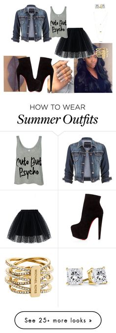 """Inspired look"" by riahh-926 on Polyvore featuring maurices, She's So, Chicwish, Christian Louboutin, Jules Smith and Michael Kors"