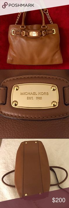 ✨MK Large Hamilton in Saffiano Luggage✨ Authentic MK Large Hamilton 🔸 Saffiano Leather in Luggage Color w/ Gold Hardware 🔸 Excellent Condition 🔸 This is a Gorgeous Bag, it's just not my style, carried it a few times🔸 My loss = Your gain 🔸 I'll even throw in the (used) matching wallet for you (I did use the wallet) 🔸🔸🔸🔸 Michael Kors Bags Satchels