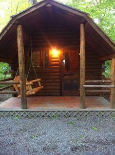r u s t i c ✜ comfort ~ cabin porch swing
