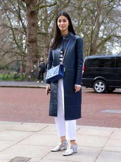 Street Style: Caroline Issa at Julien Macdonald