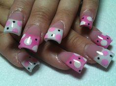 n pink by LisaThompson - Nail Art Gallery by Nails Magazine pretty n pink by LisaThompson - Nail Art Gallery by Nails Magazine Fabulous Nails, Gorgeous Nails, Pretty Nails, Toe Nail Art, Acrylic Nails, Nail Nail, Coffin Nails, Acrylics, Polka Dot Nails
