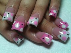 Love the polka dots but don't like the flared nails.