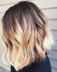 Color Ideas for Long Bob Hairstyle 2018 Blonde Balayage