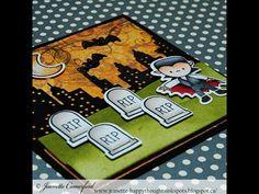 Mini Halloween Card Series #1 Vampire - YouTube