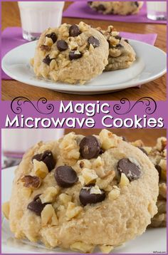 Are the chocolate chip cookie cravings setting in? Instead of rushing out to the bakery and buying a dozen, you can make your own in just under 2 minutes with our recipe for Magic Microwave Cookies! Microwave Oatmeal, Microwave Cookies, Easy Microwave Recipes, Microwave Baking, Microwave Meals, Mug Recipes, Cookie Recipes, Dessert Recipes, Easy Recipes