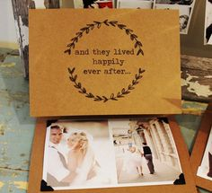 Rustic Wedding Photo Thank You Card
