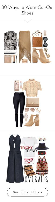 """""""30 Ways to Wear Cut-Out Shoes"""" by polyvore-editorial ❤ liked on Polyvore featuring cutoutshoes, waystowear, River Island, Nightwalker, Sole Society, Merona, Bobbi Brown Cosmetics, Red Camel, CÉLINE and Casetify"""