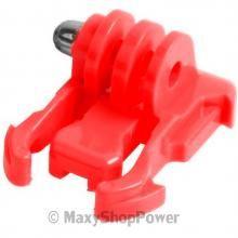 NEW CLIP FIBBIA INNESTO PLACCA AD AGGANCIO RAPIDO PLASTICA RED ROSSO GOPRO HD HERO 2 3 3+ 4 BLACK SILVER EDITION - SU WWW.MAXYSHOPPOWER.COM
