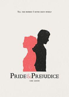 Pride and Prejudice poster jane austen quote by AbbieImagine